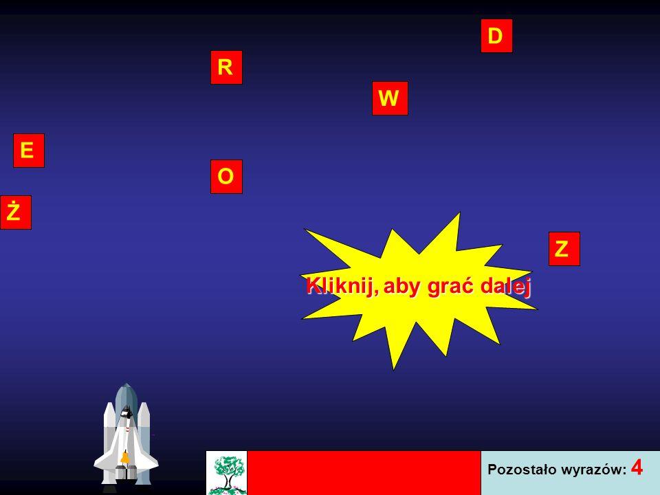 D R Z E W O Ż Pozostało wyrazów: 4