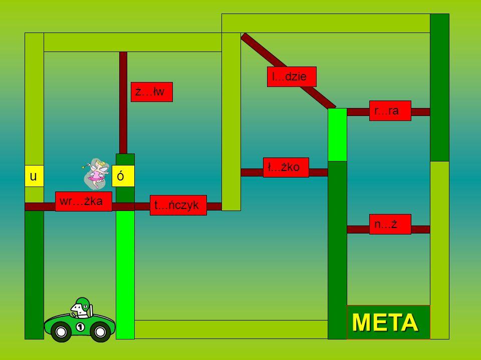 W tej grze nauczysz się poprawnej pisowni wyrazów z Ó i U. Gdy twój pojazd podjedzie do bramy, pojawi się wyraz z luką.Wstaw odpowiednią literę. Jeżel