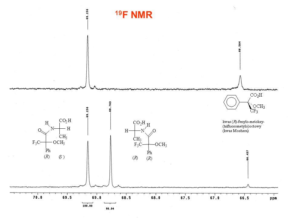 19 F NMR CO 2 H CH 3 HN H Ph OCH 3 F 3 C O (R) (S) CO 2 H CH 3 NH H O Ph OCH 3 F 3 C (R) (R)