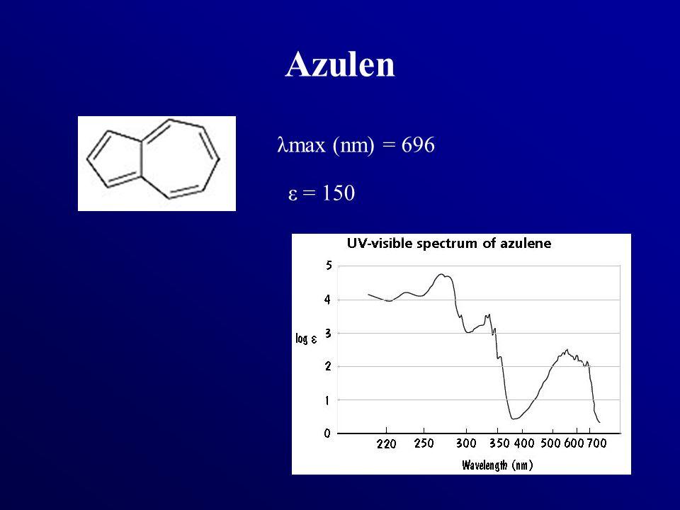 Azulen λmax (nm) = 696 ε = 150