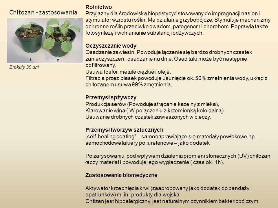 Rolnictwo Przyjazny dla środowiska biopestycyd stosowany do impregnacji nasion i stymulator wzrostu roślin. Ma działanie grzybobójcze. Stymuluje mecha