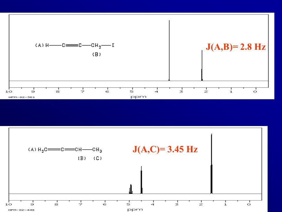 J(A,B)= 2.8 Hz J(A,C)= 3.45 Hz