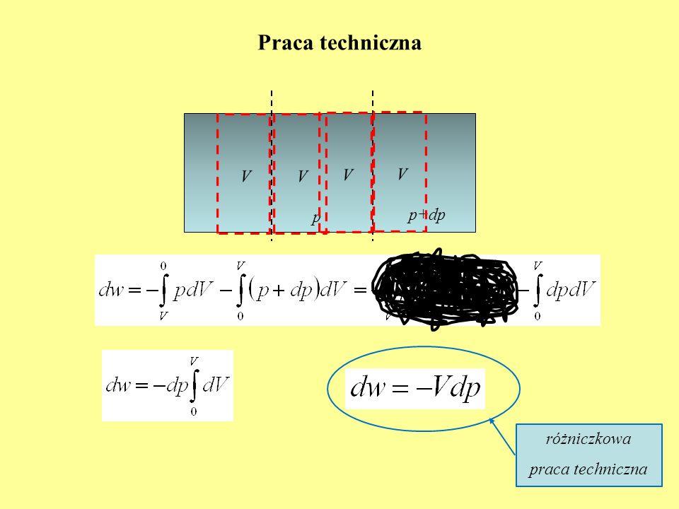 Praca techniczna różniczkowa praca techniczna p p+dp