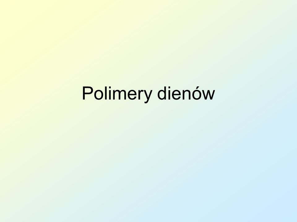Polimery dienów