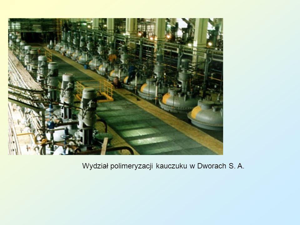 Wydział polimeryzacji kauczuku w Dworach S. A.