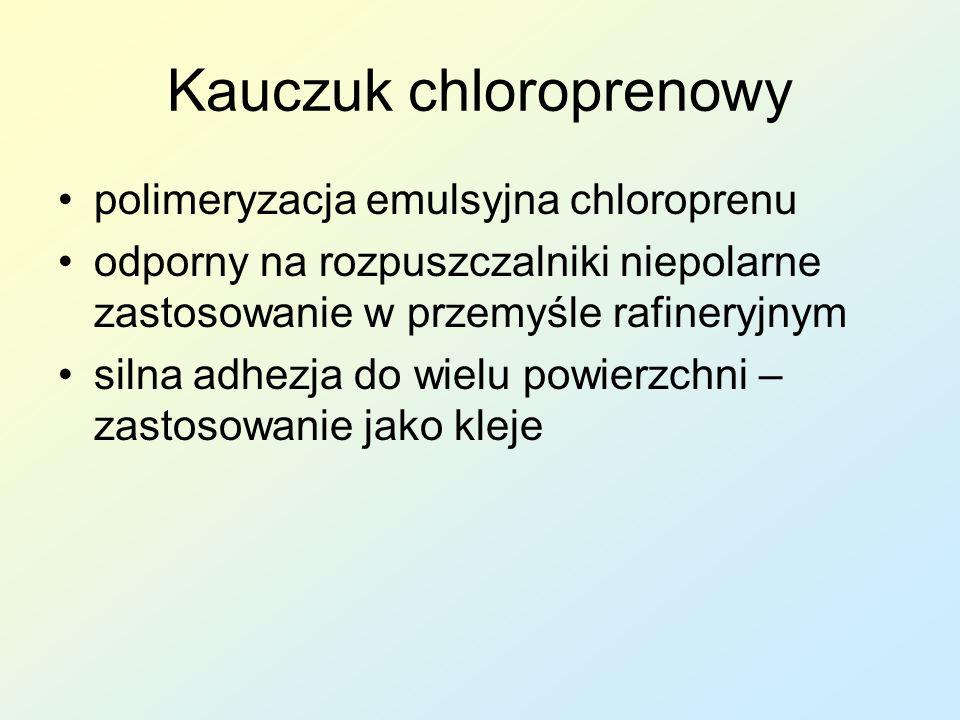Kauczuk chloroprenowy polimeryzacja emulsyjna chloroprenu odporny na rozpuszczalniki niepolarne zastosowanie w przemyśle rafineryjnym silna adhezja do