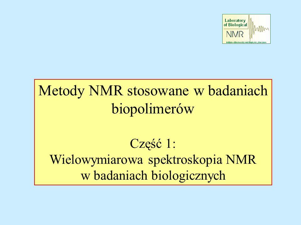 Metody NMR stosowane w badaniach biopolimerów Część 1: Wielowymiarowa spektroskopia NMR w badaniach biologicznych