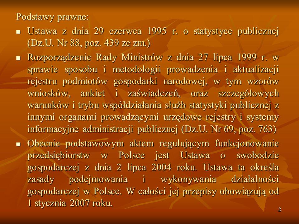 1 Podstawy prawne prowadzenia działalności usługowej