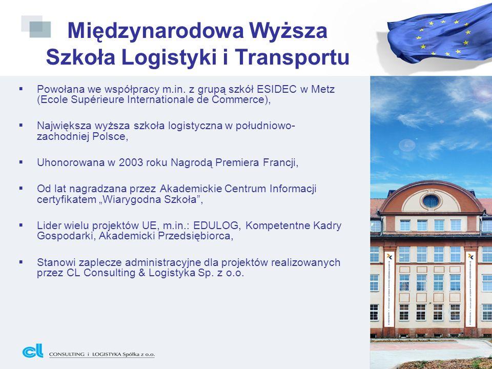 Powołana we współpracy m.in. z grupą szkół ESIDEC w Metz (Ecole Supérieure Internationale de Commerce), Największa wyższa szkoła logistyczna w południ