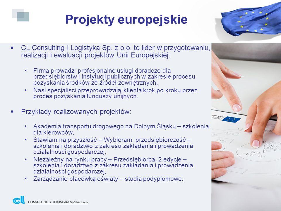 CL Consulting i Logistyka Sp. z o.o. to lider w przygotowaniu, realizacji i ewaluacji projektów Unii Europejskiej: Firma prowadzi profesjonalne usługi