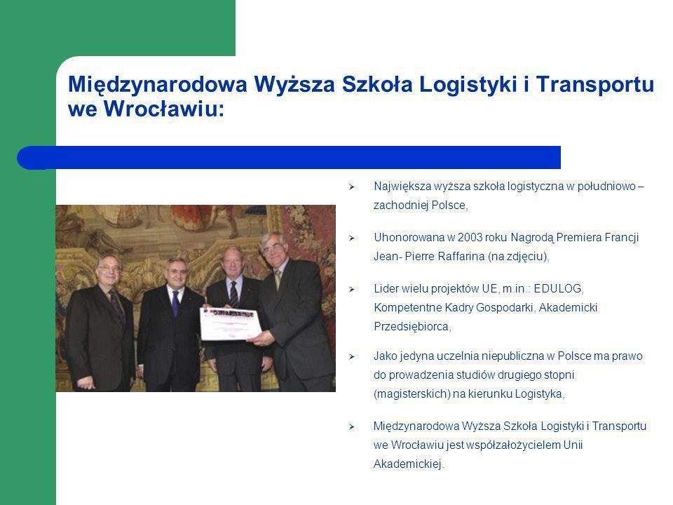 Międzynarodowa Wyższa Szkoła Logistyki i Transportu we Wrocławiu: Największa wyższa szkoła logistyczna w południowo – zachodniej Polsce, Uhonorowana w