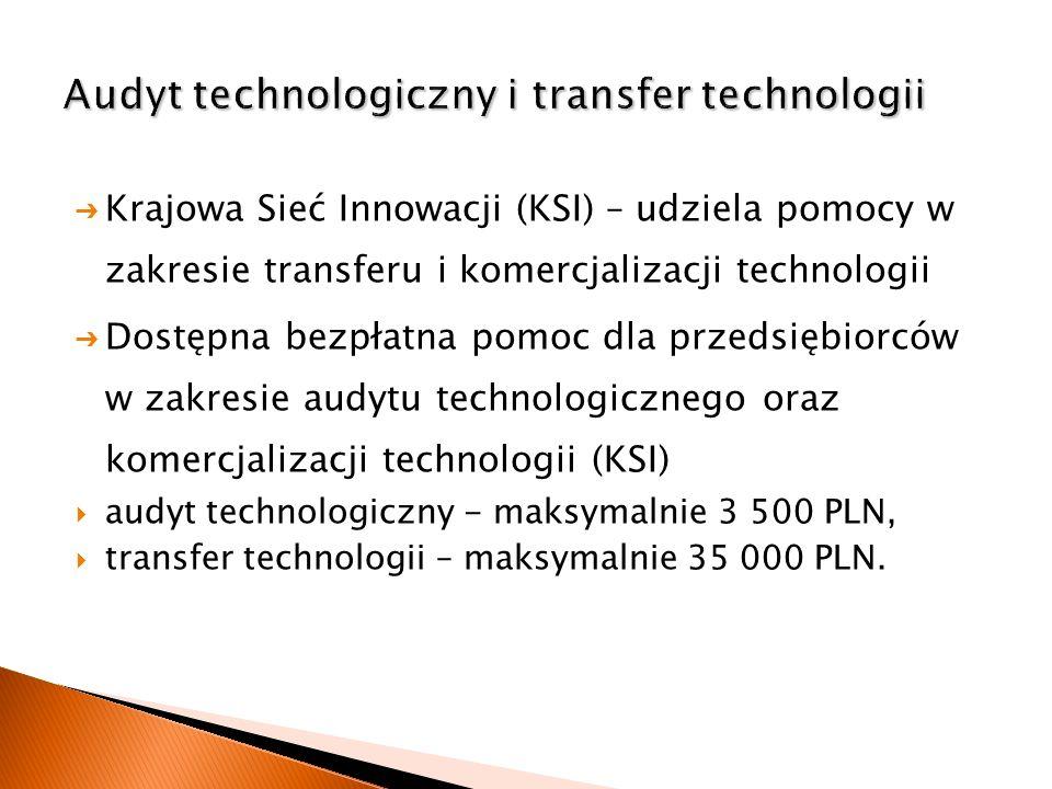 Krajowa Sieć Innowacji (KSI) – udziela pomocy w zakresie transferu i komercjalizacji technologii Dostępna bezpłatna pomoc dla przedsiębiorców w zakres