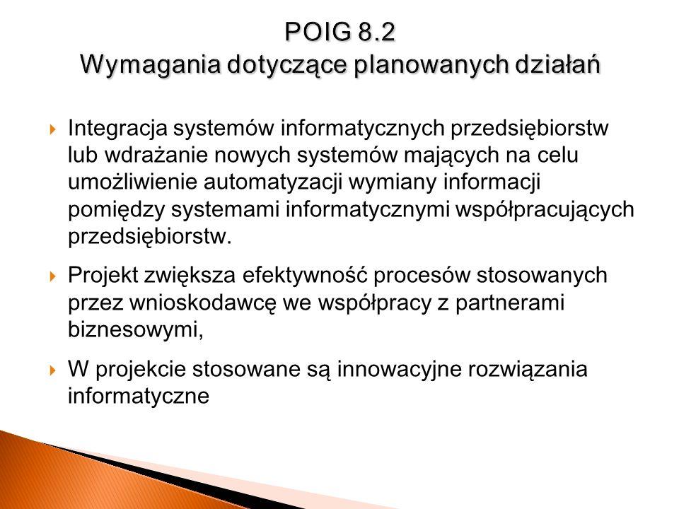 Integracja systemów informatycznych przedsiębiorstw lub wdrażanie nowych systemów mających na celu umożliwienie automatyzacji wymiany informacji pomię