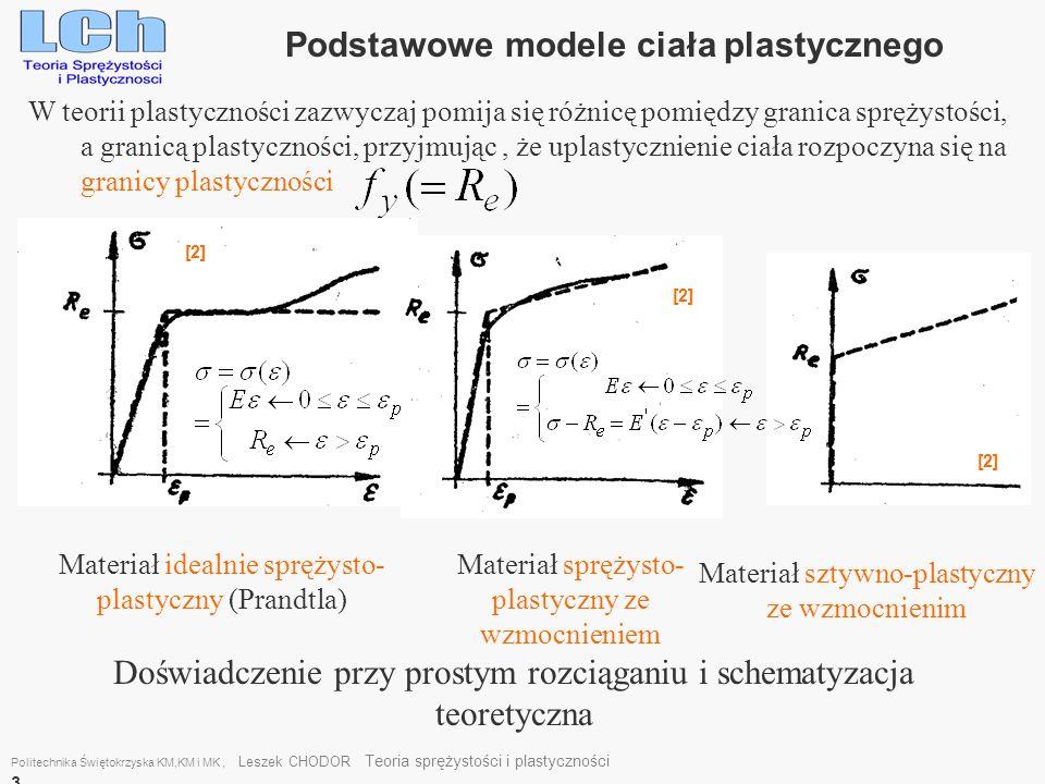 W teorii plastyczności zazwyczaj pomija się różnicę pomiędzy granica sprężystości, a granicą plastyczności, przyjmując, że uplastycznienie ciała rozpo