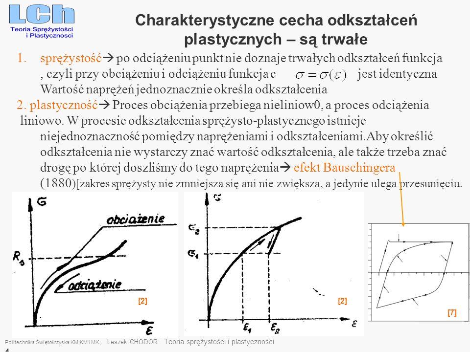 1.sprężystość po odciążeniu punkt nie doznaje trwałych odkształceń funkcja, czyli przy obciążeniu i odciążeniu funkcja c jest identyczna Wartość naprę