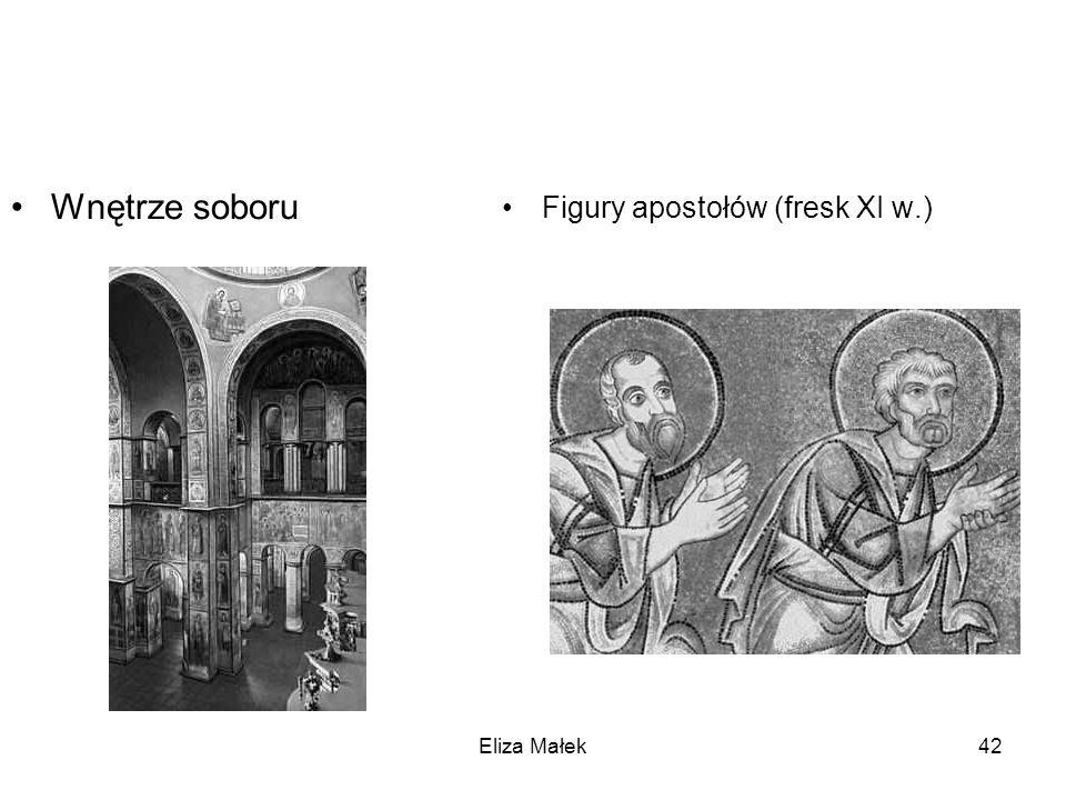 Eliza Małek42 Wnętrze soboru Figury apostołów (fresk XI w.)