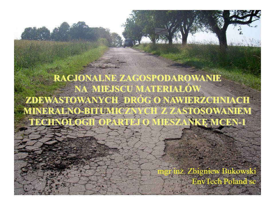 PRZYKŁAD REMONTU KAPITALNEGO STAREJ NAWIERZCHNI ASFALTO - BETONOWEJ Miejsce: Droga krajowa nr 44 - Obwodnica Oświęcimia Zamawiający: Generalna Dyrekcja Dróg Krajowych (Odział Południowo-Wschodni Kraków) Realizacja: Sierpień 2001 r.
