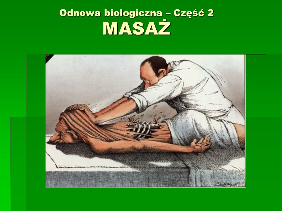 Masaż - definicje Z fr.