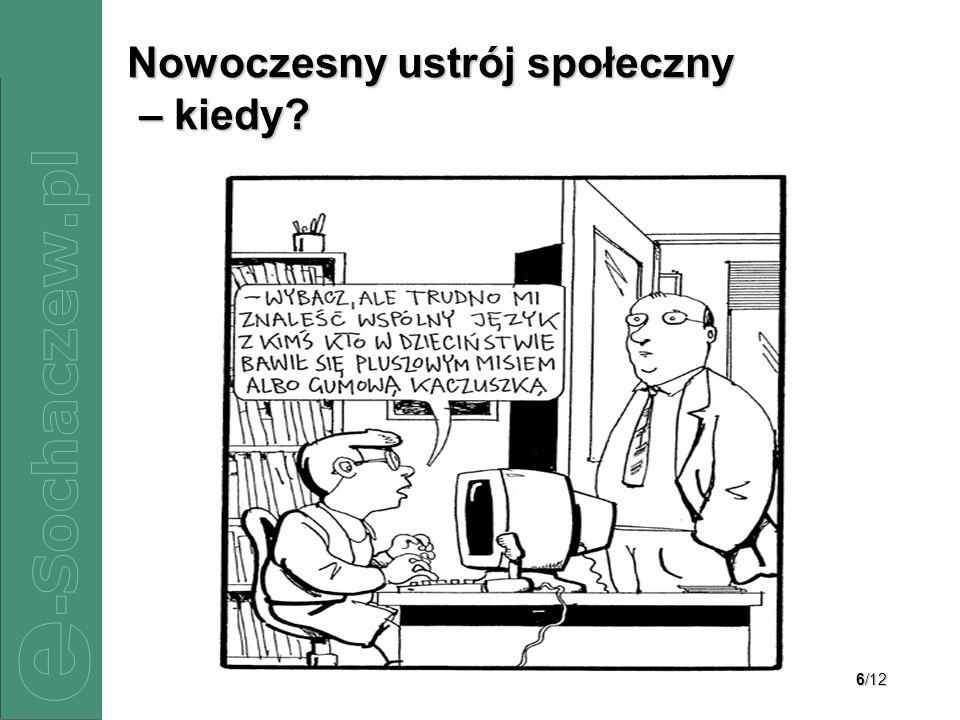 6/12 Nowoczesny ustrój społeczny – kiedy