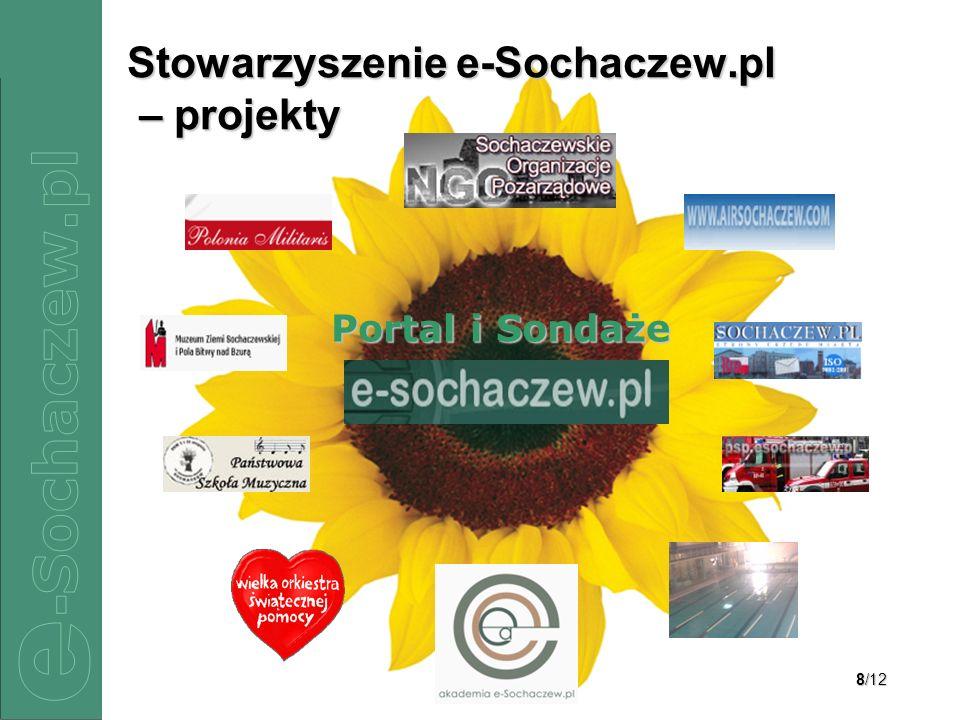 8/12 Stowarzyszenie e-Sochaczew.pl – projekty Portal i Sondaże