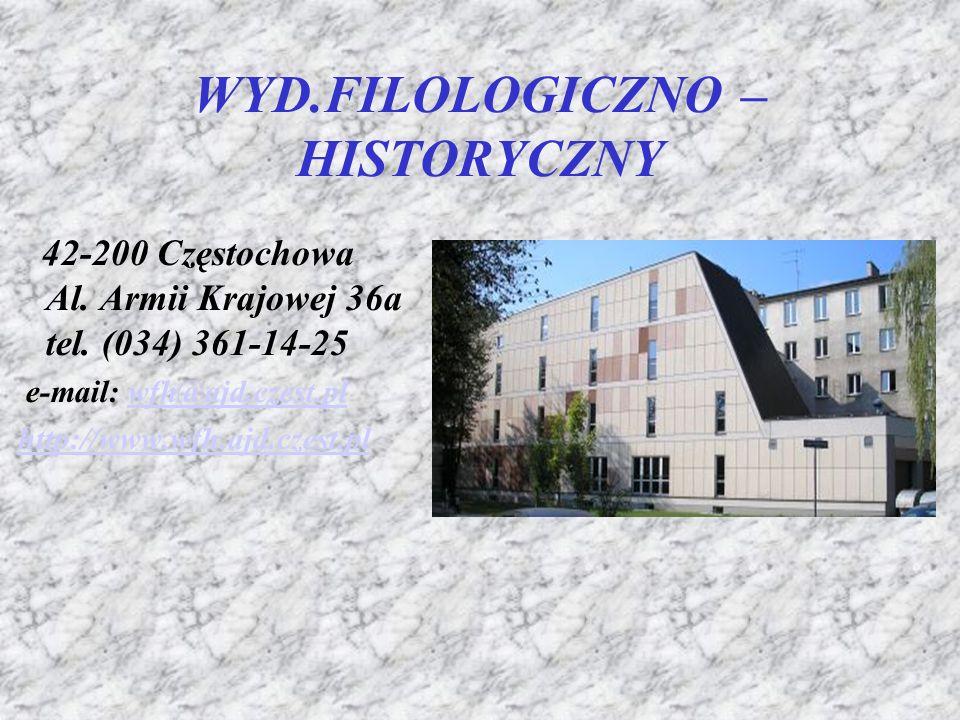 Pedagogika 42-200 Częstochowa ul. Waszyngtona 4/8 tel. (034) 378-42-97 e-mail: wp@ajd.czest.pl http://www.wp.ajd.czest.pl wp@ajd.czest.pl http://www.w