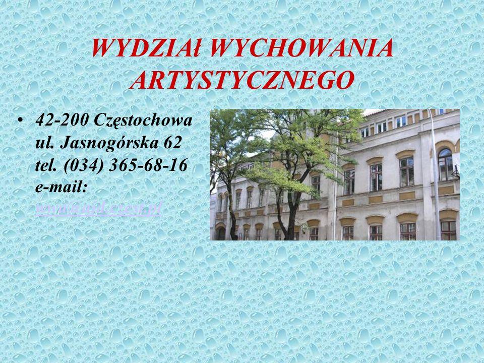 WYD. MATEMATYCZNO – PRZYRODNICZY 42-200 Częstochowa Al. Armii Krajowej 13/15 tel. (034) 361-21-79 e-mail: wmp@ajd.czest.pl wmp@ajd.czest.pl