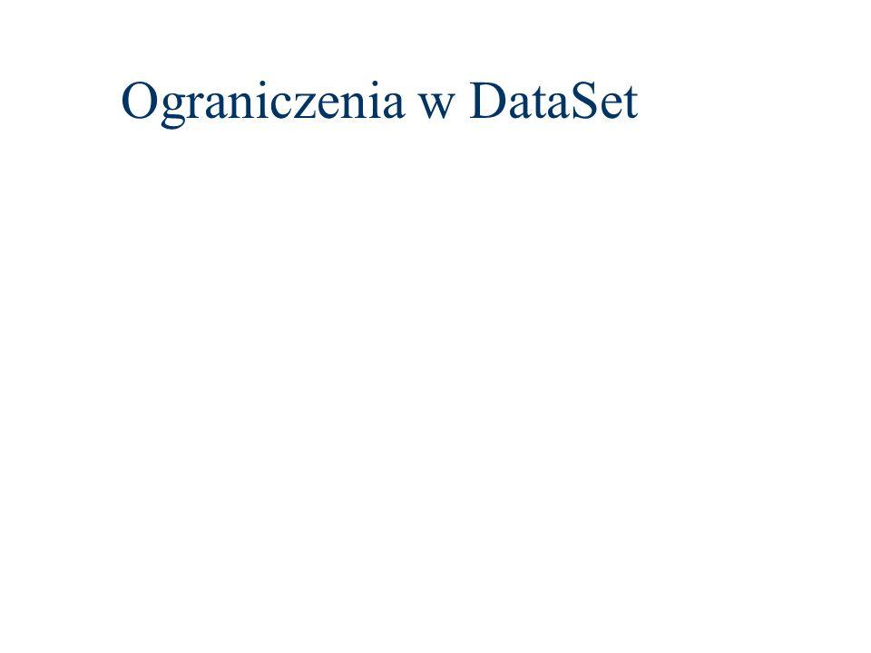 Ograniczenia w DataSet