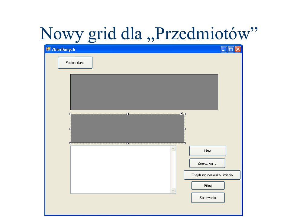 Nowy grid dla Przedmiotów