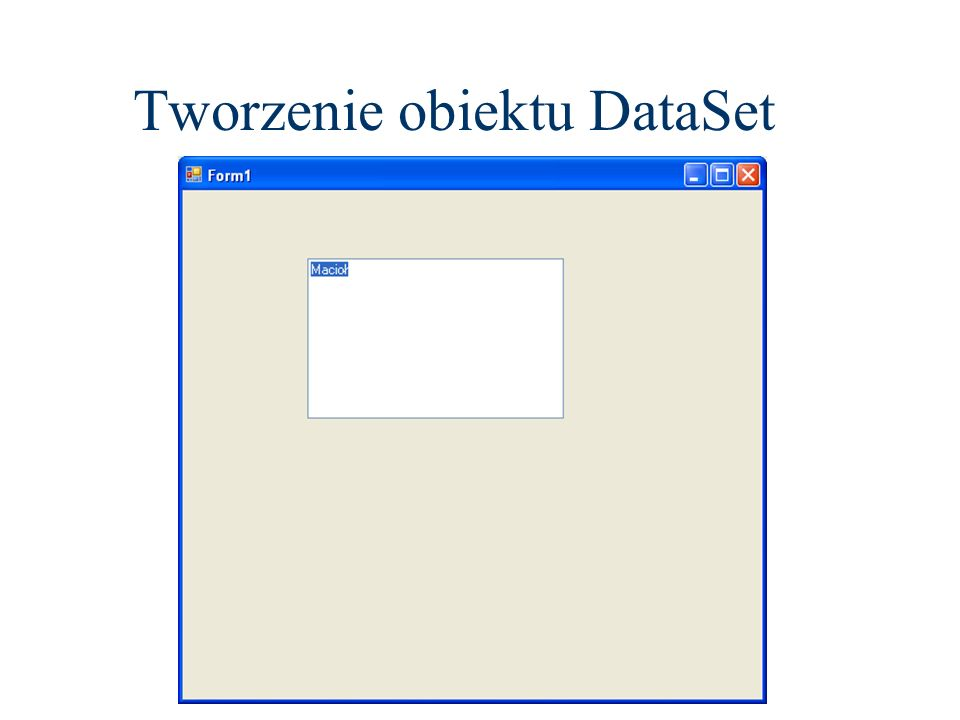 Imports System.Data.SqlClient Public Class Zamowienia Private Sub Zamowienia_Load(ByVal sender As System.Object, ByVal e As System.EventArgs) Handles MyBase.Load TODO: This line of code loads data into the TestDataSet5.Zamowienia table.