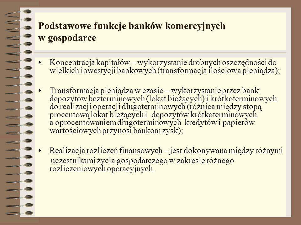 Bank, jako organizacja Bank komercyjny jest organizacją: 1. nastawioną na zysk; 2. wieloczynnościową, prowadzącą równolegle różne rodzaje działalności
