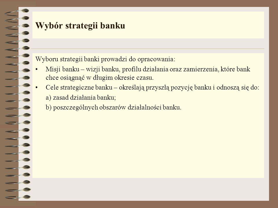 Analiza konkurencji według Portera Podstawowe strategie konkurencji to: Wiodąca pozycja pod względem kosztów całkowitych – zdobycie przez bank wiodące