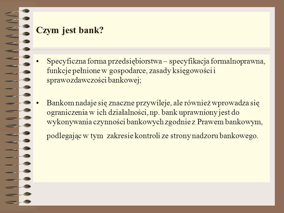 Zarządzanie bankiem komercyjnym Ogół decyzji dotyczących bieżącej oraz zamierzonej działalności banku: - Cele do jakich należy dążyć; - Środki działania prowadzące do tych celów; - Sposób postępowania w określonych dziedzinach działalności Ogół działań zmierzających do zrealizowania podjętych decyzji.