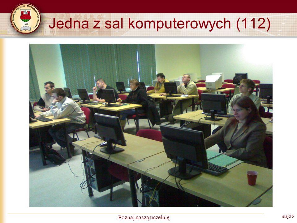 slajd 5 Poznaj naszą uczelnię Jedna z sal komputerowych (112)
