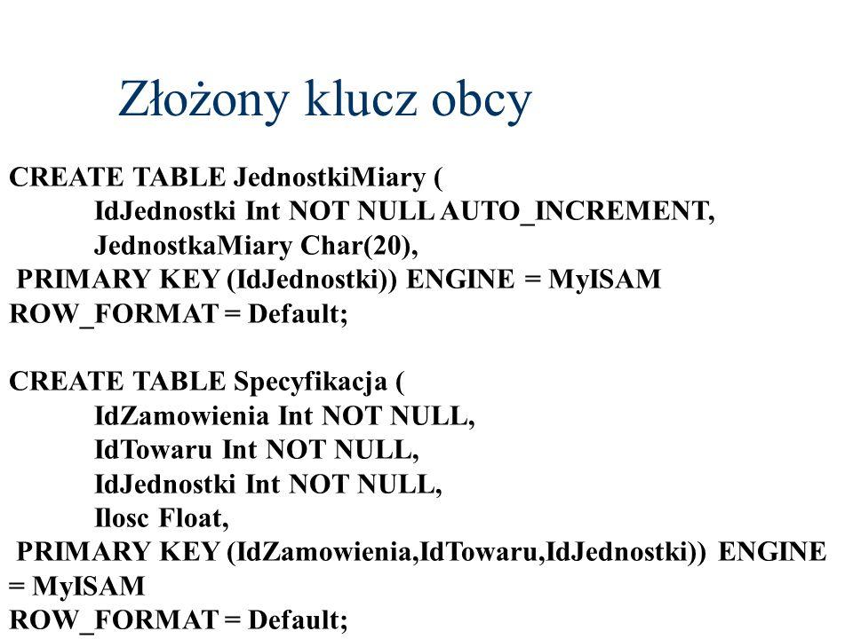 Wyzwalacze SQL 99 CREATE TRIGGER nazwa_wyzwalacza { BEFORE | AFTER } { [DELETE] | [NSERT] [UPDATE] [OF kolumna [,...n]} ON nazwa_tabeli [REFERENCING {OLD [ROW] [AS] nazwa_starej_krotki | NEW [ROW] [AS] nazwa_nowej_krotki OLD TABLE [AS] nazwa_starej_tabeli | NEW TABLE [AS] nazwa_nowej_tabeli}] {FOR EACH {ROW | STATEMENT}] [WHEN (warunki)] blok_kodu