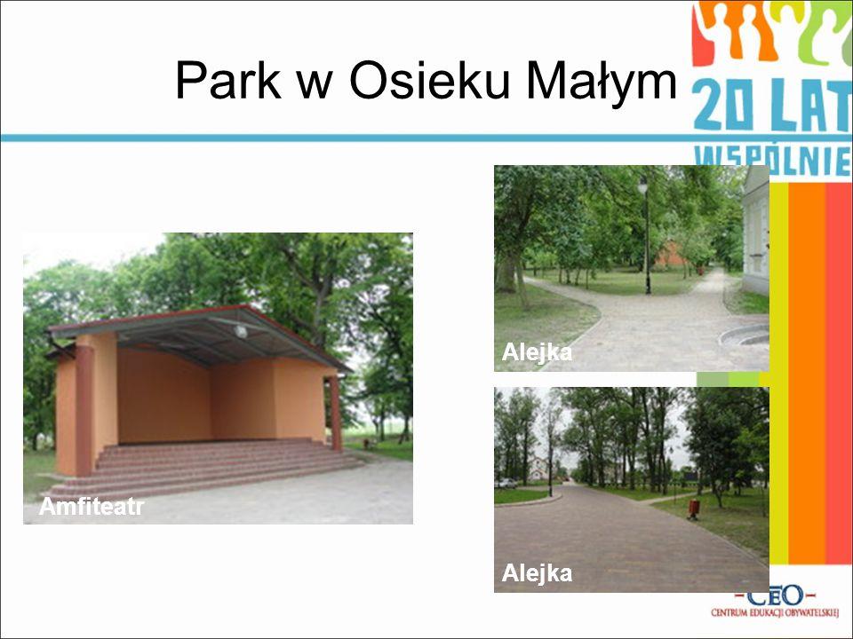 Park w Osieku Małym Amfiteatr Alejka
