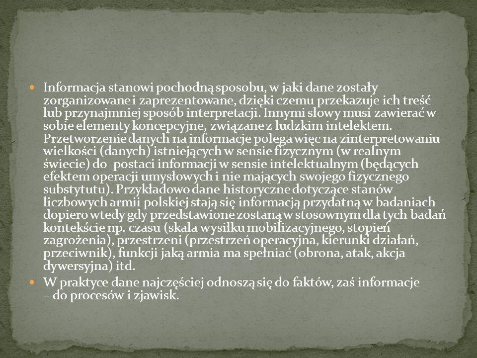 W języku polskim termin dane nie posiada liczby pojedynczej. Dlatego w sytuacji, gdy jednak zachodzi konieczność (wcale nie rzadka) zastosowania go w