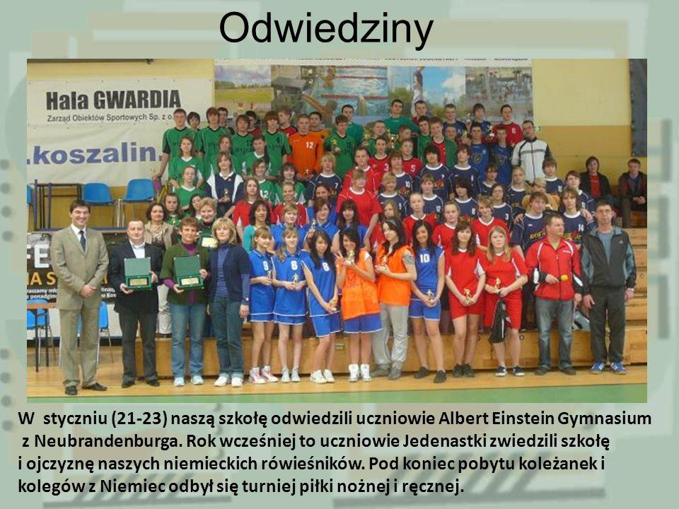 Odwiedziny W styczniu (21-23) naszą szkołę odwiedzili uczniowie Albert Einstein Gymnasium z Neubrandenburga.