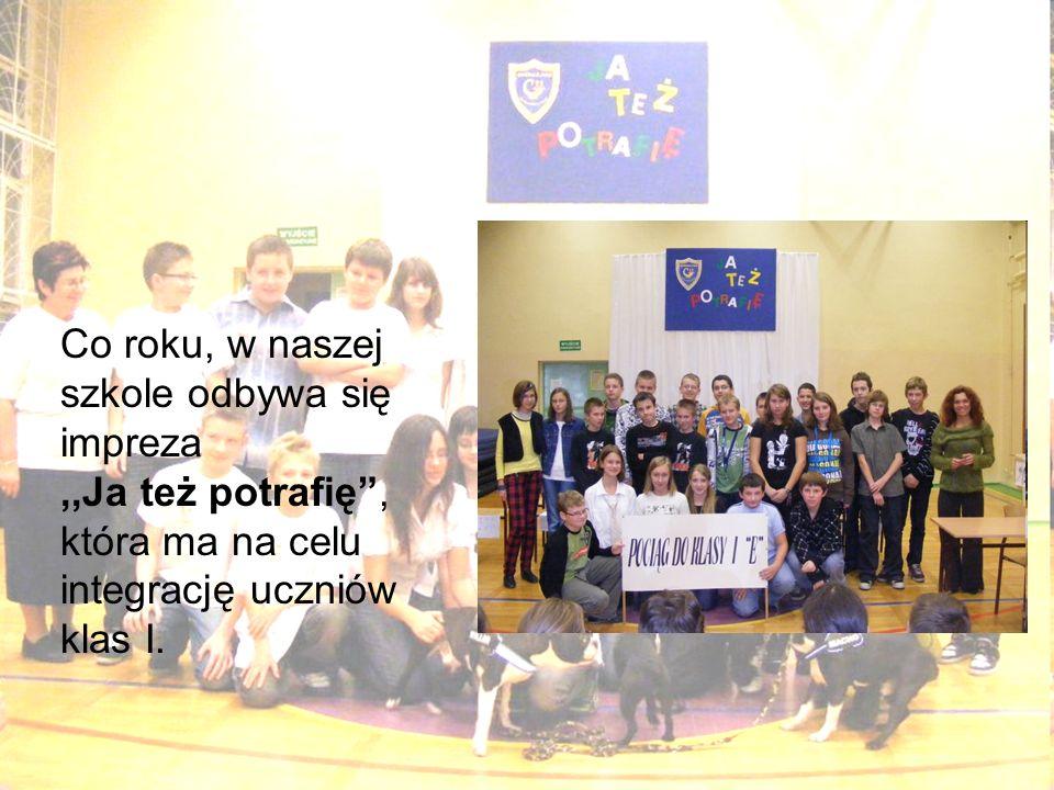 Co roku, w naszej szkole odbywa się impreza,,Ja też potrafię, która ma na celu integrację uczniów klas I.