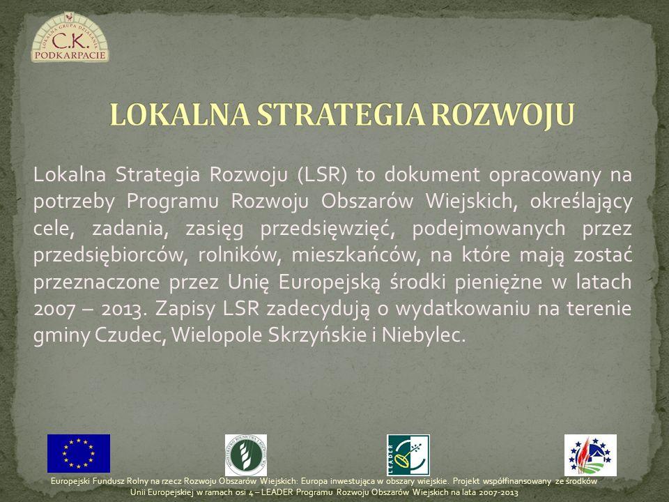 Lokalna Strategia Rozwoju (LSR) to dokument opracowany na potrzeby Programu Rozwoju Obszarów Wiejskich, określający cele, zadania, zasięg przedsięwzię