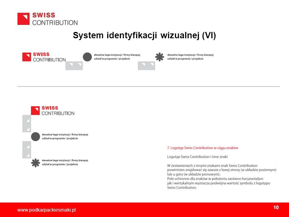 2013-11-1511 www.podkarpackiesmaki.pl System identyfikacji wizualnej (VI) 10