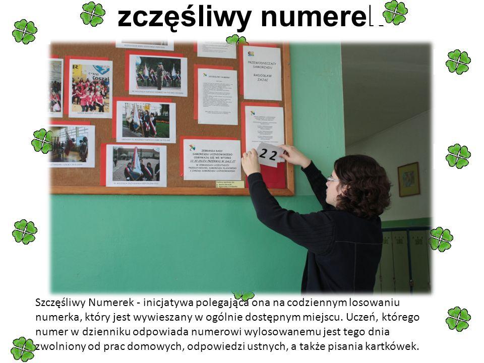 Szczęśliwy numerek Szczęśliwy Numerek - inicjatywa polegająca ona na codziennym losowaniu numerka, który jest wywieszany w ogólnie dostępnym miejscu.