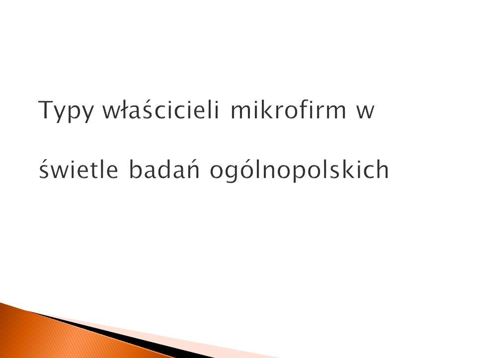 Typy właścicieli mikrofirm w świetle badań ogólnopolskich