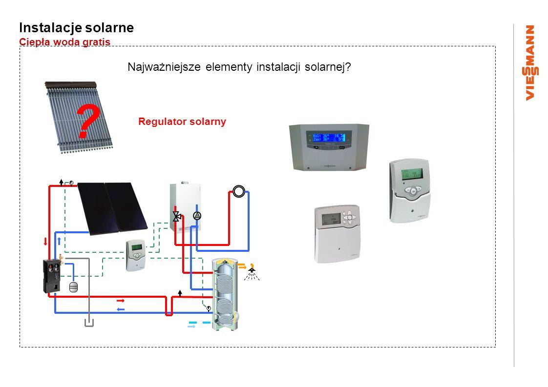Instalacje solarne Ciepła woda gratis Najważniejsze elementy instalacji solarnej? ? Regulator solarny