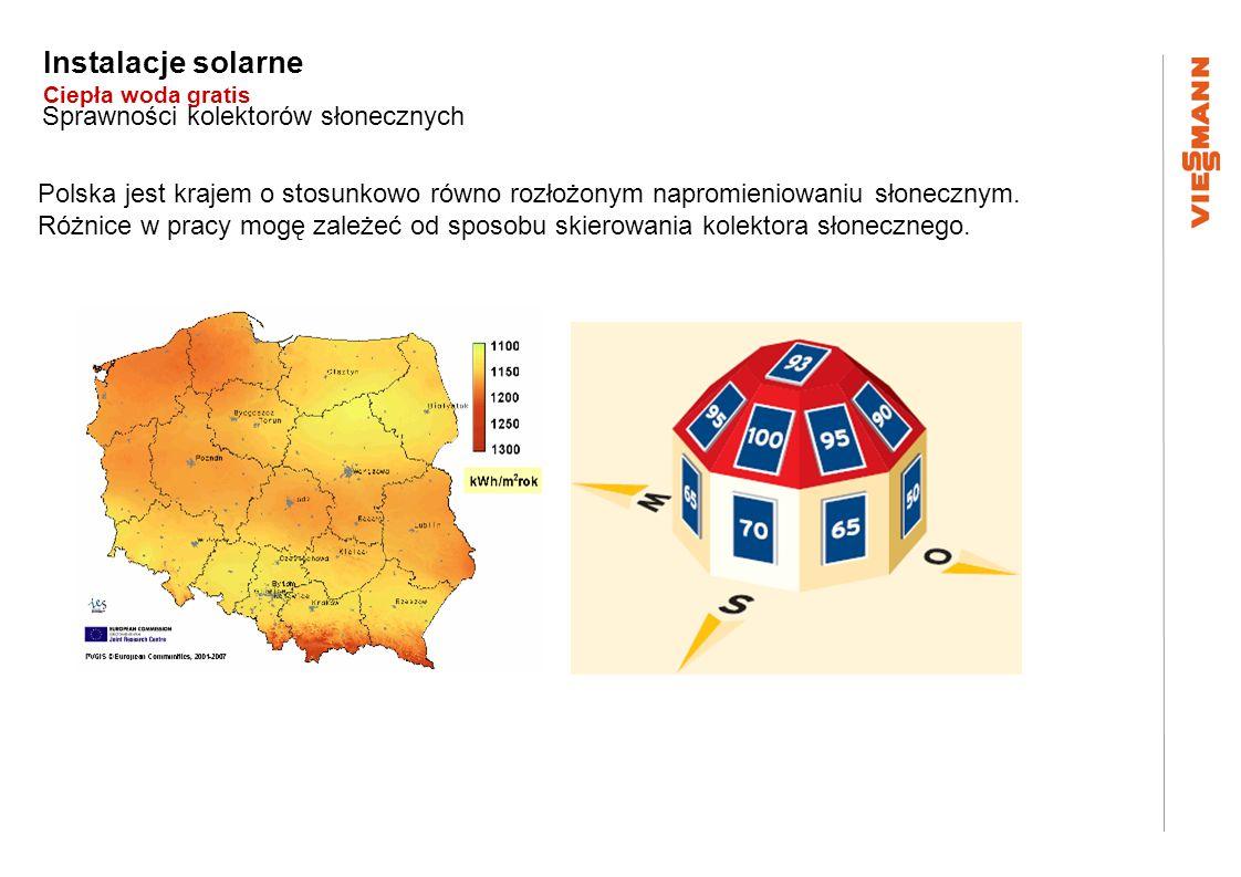 Instalacje solarne Ciepła woda gratis Polska jest krajem o stosunkowo równo rozłożonym napromieniowaniu słonecznym. Różnice w pracy mogę zależeć od sp