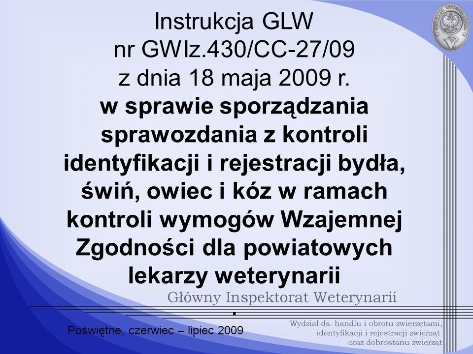 Instrukcja GLW nr GWIz.430/CC-27/09 z dnia 18 maja 2009 r.