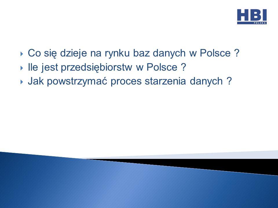 Co się dzieje na rynku baz danych w Polsce . Ile jest przedsiębiorstw w Polsce .