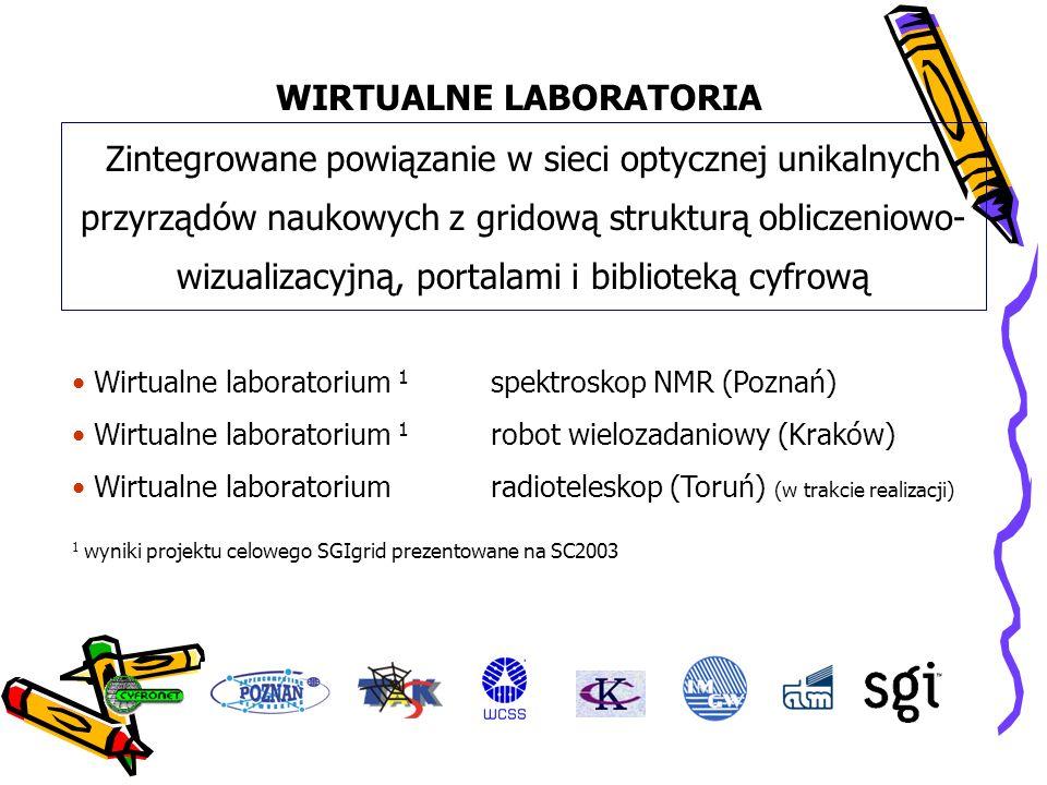 WIRTUALNE LABORATORIA Zintegrowane powiązanie w sieci optycznej unikalnych przyrządów naukowych z gridową strukturą obliczeniowo- wizualizacyjną, port