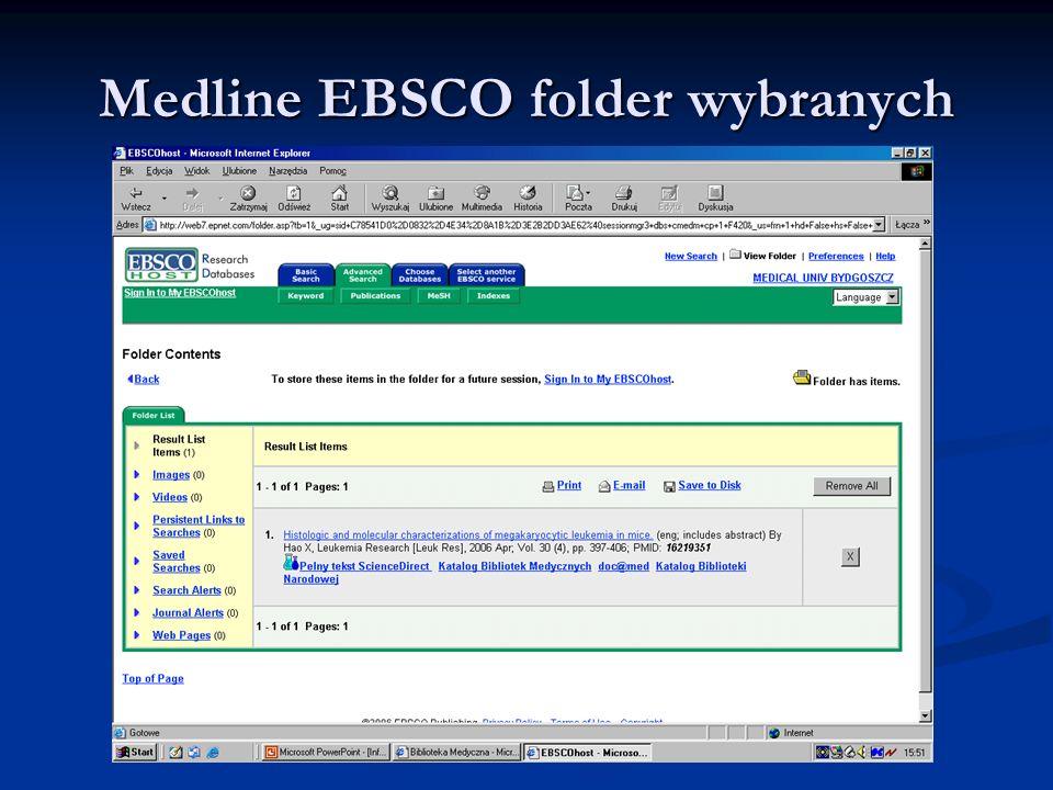 Medline EBSCO folder wybranych