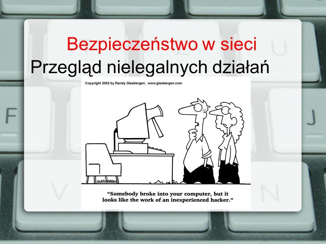 Bezpieczeństwo w sieci Przegląd nielegalnych działań