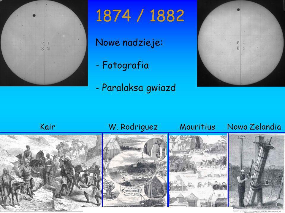 KairW. RodriguezMauritiusNowa Zelandia 1874 / 1882 Nowe nadzieje: - Fotografia - Paralaksa gwiazd